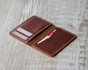 Mens custom, Wallets for men - Front Pocket wallet - Minimalist Handmade Leather Credit Card Wallet, leather wallets, handmade wallet