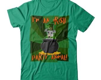 Funny Greyhound | Greyhound St. Patricks Day Funny T-shirt