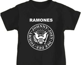 wb the ramones toddler kids t shirt childrens band tee youth concert clothes