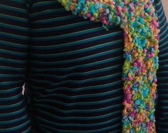 Bright multicolor crochet popcorn yarn