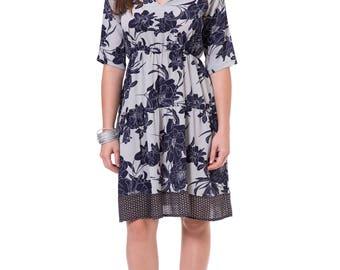 Blue Flower Dress, Floral Dresses With Sleeves, Fall Formal Dresses, Elegant Short Dresses, Special Occasion Dresses, Ladies Swing Dresses