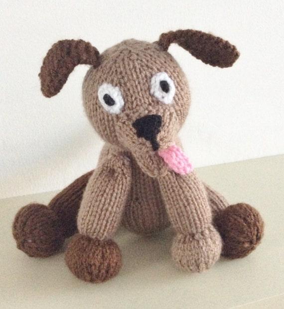 knitting pattern dog toy animal pdf download puppy knit