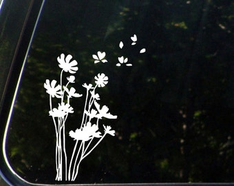"CAR - She Loves me . . . flower petals  - (5.5""w x 7""h) - Car Vinyl Decal Sticker (Color Variations Available)"