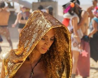 Reversible Sequin Goddess Robe- Multiple Colors- Color Changing Halloween Burning Man Festival Costume