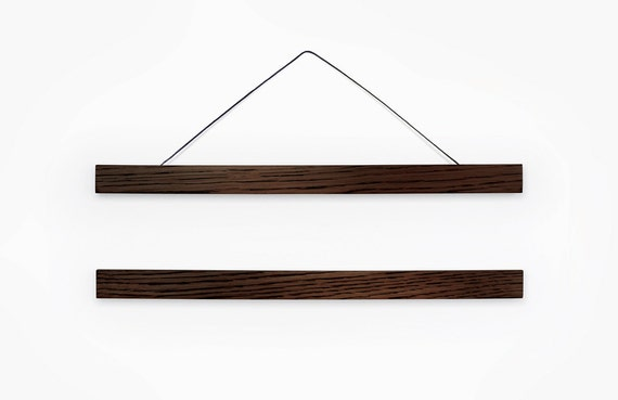 Wooden poster hanger / dark wood frame DARKO