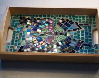 Purple Mountain Emperor Butterfly Mosaic Tray