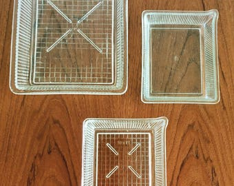 Vintage photography trays / developing trays / darkroom development trays