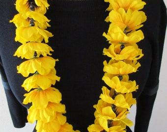 Yellow Anemone Flower Lei
