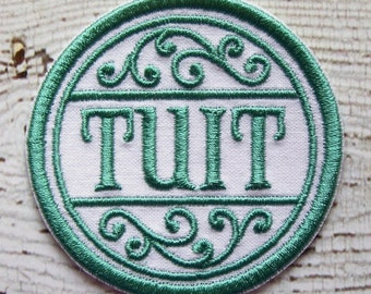 Get A Round Tuit Merit Badge Iron On Or Sew On Applique