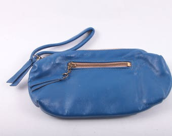 Blue Clutch, Solid, Bag, Purse, Pocketbook, Vintage, Handbag, Faux Leather, Small Evening Bag, Small Purse ~ Boom Thang ~ 160919