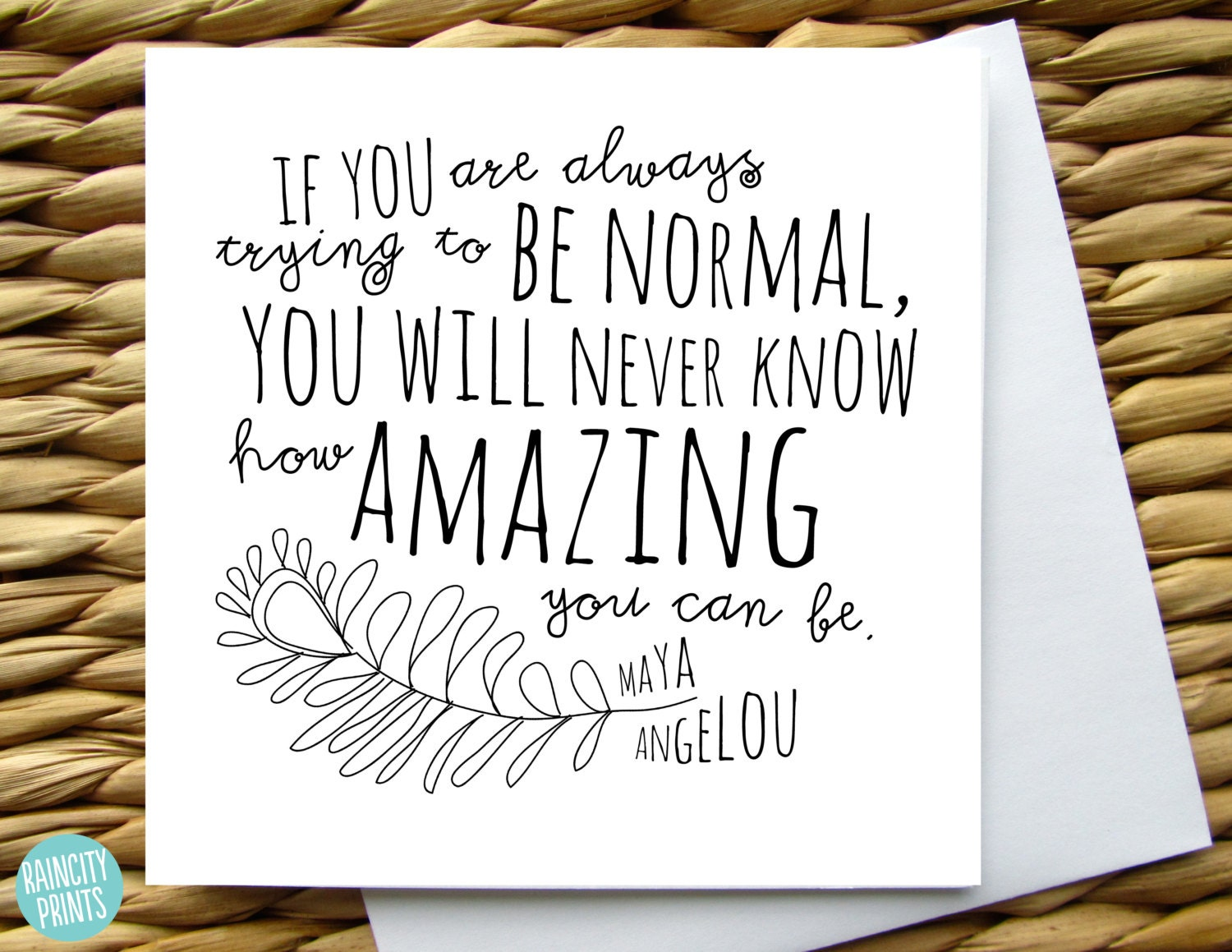 Maya angelou how amazing you can be greeting card zoom kristyandbryce Images