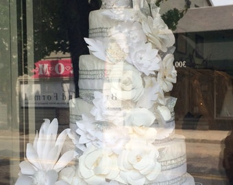 Paper Flower Wedding Cake - Decoration