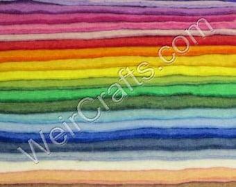 "Handmade 100% Wool Felt  ~ 3-4mm Thick - ONE 12"" Square Sheet"