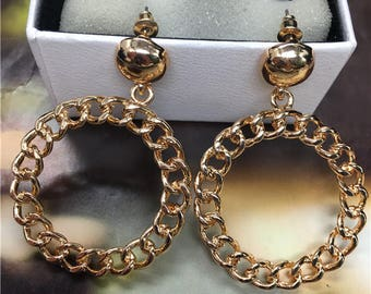 Earrings Creole French Couturier