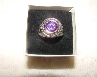 Vintage Facet Ameythst Ring Size 8