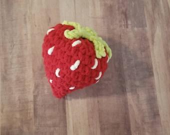 Strawberry Pillow, Oversized Fuzzy Plush Giant Strawberry, Photo Prop, Pillow, Nursery Decor