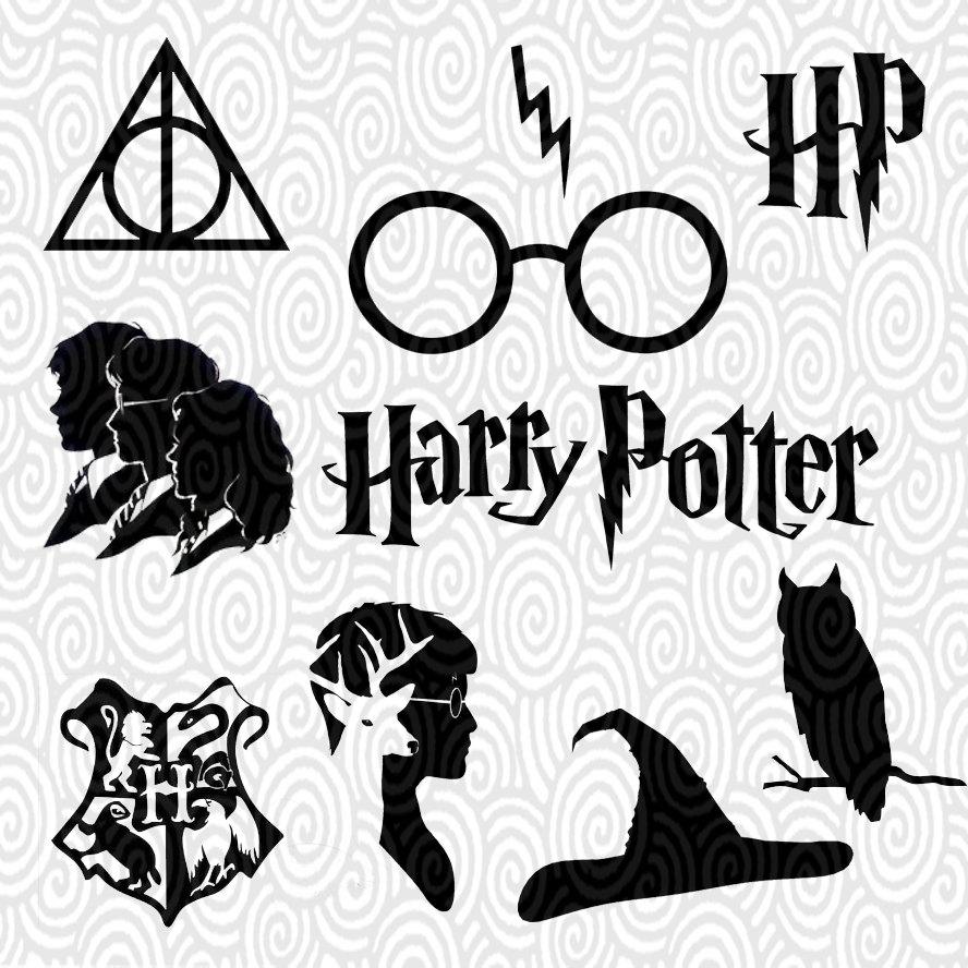 Cricut Vorlage Harry Potter silhouette ohne Füllung