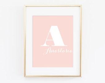 Name typography Kids Wall Print