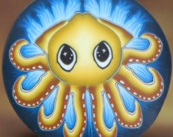 Medium Squid Polymer Clay Cane- 'Deep Blue Sea' series (45C)
