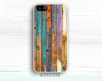 Colorful Wood iPhone 6S Case, Wood Print iPhone 5 Case, iPhone 5C Case, Painted Wood, iPhone 6 Plus Case, iPhone 6 Case Wood, iPhone SE Case