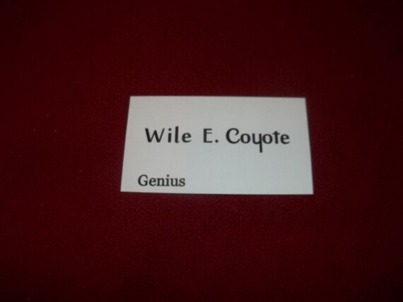 Wile e coyote business card prop real business card colourmoves