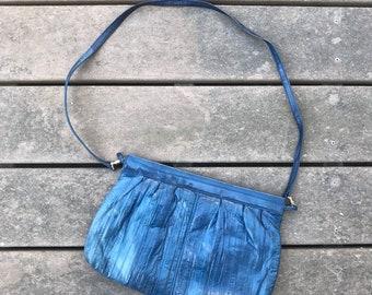 Indigo blue 80s cross body handbag