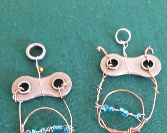 Bicycle Parts - Owl Pendant - Owlette