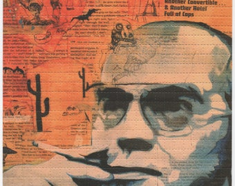 Hunter S Thompson by Kevin Mallon Blotter Art