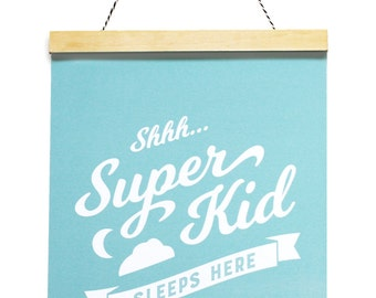Kids Wall Art, Wall Hanging for Kids, Kids Room Canvas Art, Girls Room Art, Superhero Art Print