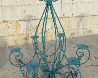 """Wrought Iron Candle Chandelier Lighting """"Master Ceilian"""" Use Indoor or Outdoor"""