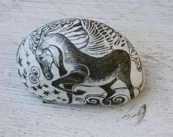 Hand painted Pegasus Story Stone