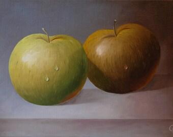 Still Life apples 33 x 46 cm