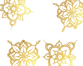 Mandala clip art, Hand drawn Gold Clipart Buddhism Hinduism Spiritual Symbol Design