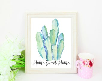 Cactus Home Sweet Home Instant Download