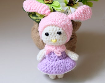 Amigurumi My Melody    Crochet Amigurumi Doll   Amigurumi Crochet and Knitting   My Melody Crochet   My Melody Dall