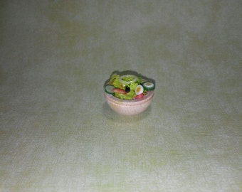1 12 scale Salad, Miniature Salad,Dollhouse Salad