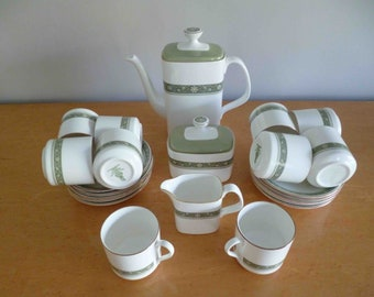 Royal Doulton Bone China RONDELAY Coffee Set for 10