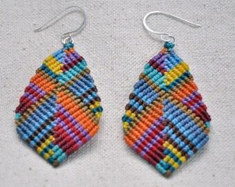 Large Buddha Earrings - multicolor
