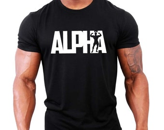 ALPHA Mens Gym T-Shirt - Bodybuilding / Workout / Fitness / Motivation