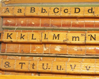 Rubber Stamp SET, Vintage, Upper AND Lower Case, Plus Numbers, Punctuation and Math Symbols in original Box, Fulton Special Stamp Marker