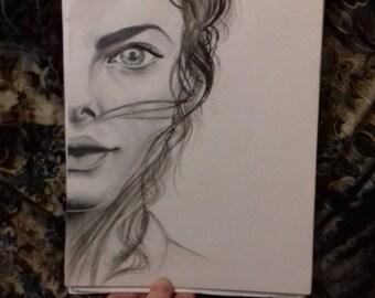 Kaya Scodelario Effie from Skins Original Sketch