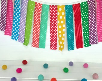 Birthday Banner Garland Bunting Baby Shower Baby Nursery Decor Wall Decor Wall Hanging Photography Props Photo Props Rainbow
