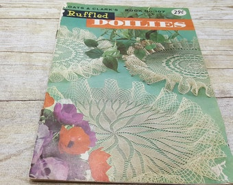 Ruffled Doilies, 1959, Coats and Clarks book 107