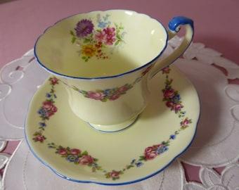 Vintage ROYAL  PARAGON Tea Cup and Saucer Circa Late 1920s