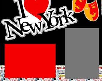 Scrapbook Page Kit New York City Premade Scrapbook Pages 2-page 12X12 Scrapbook Page Kit or Premade Layout