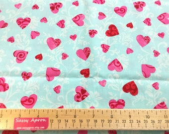 Love Hearts ~ Love Collection by Amy Biggers for Robert Kaufman ~ quilting cotton  fabric