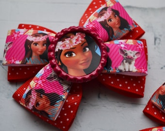 Moana party favors for kids Hair bows Moana birthday Gift for her Moana and Pua hair clip Disney Moana headband Baby hair accessories
