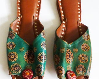 Green Leather Shoes
