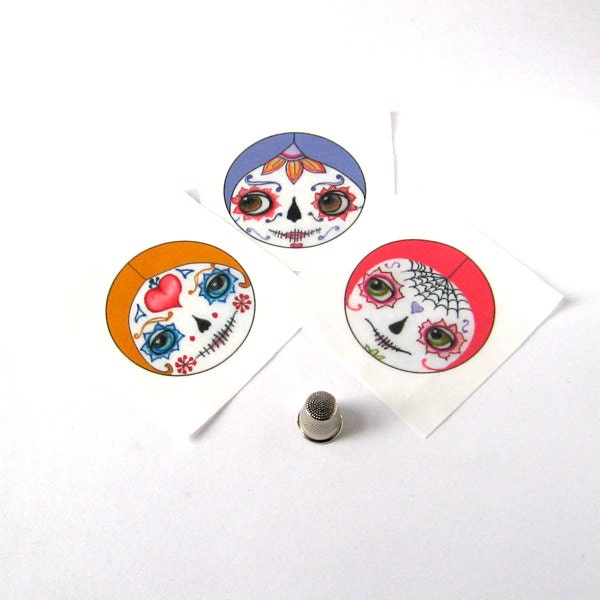 Day of the dead doll faces cloth doll faces sugar skull for Day of the dead craft supplies