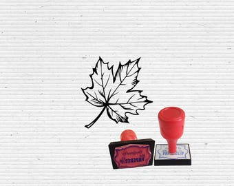 Maple Leaf Craft Stamp for Scrapbooking, Cardmaking, Paper Art, and Bullet Journaling